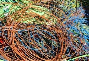 Recuperan los cables de cobre
